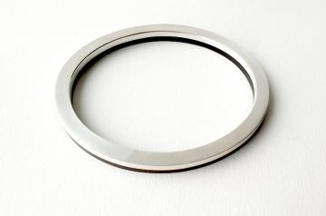 Bangle - Silver and Ebony Oval : $350