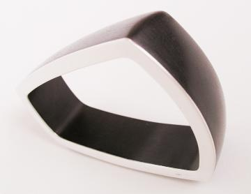 Bangle Ebony with SIlver
