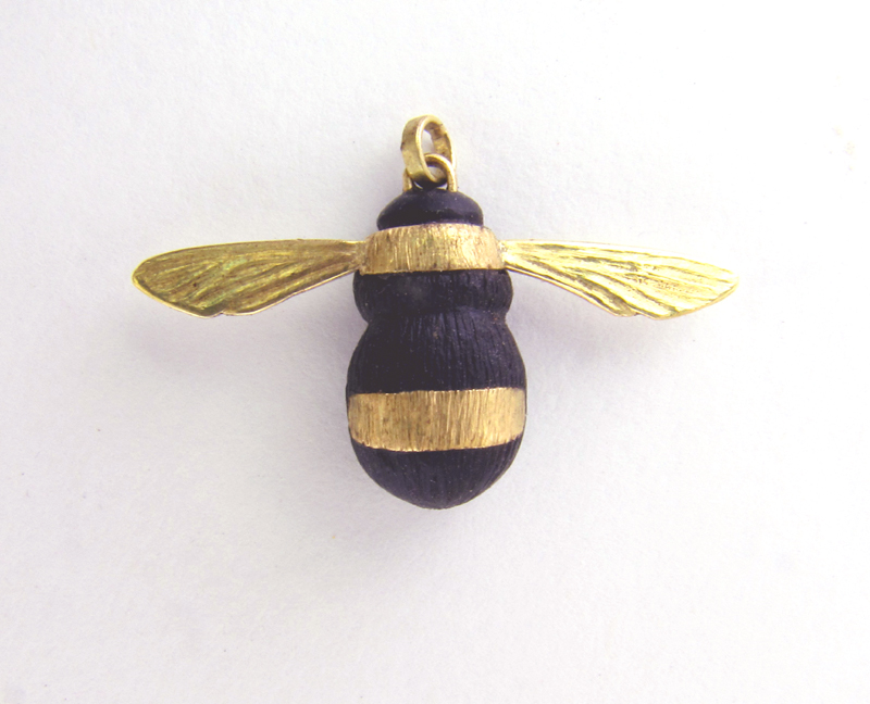 for pendant p girlfriend valentines korean fashion blue black sweet her bumble jewelry bee style cute day necklace in gold sterling honey silver gift