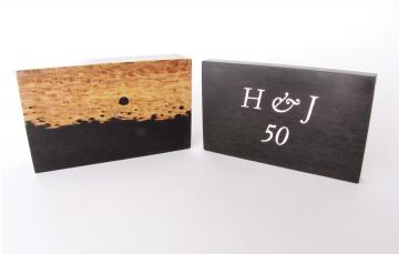 African Blackwood  box  personalised wedding present