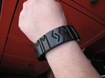 Bangle Bracelet Runic Ebony : $300
