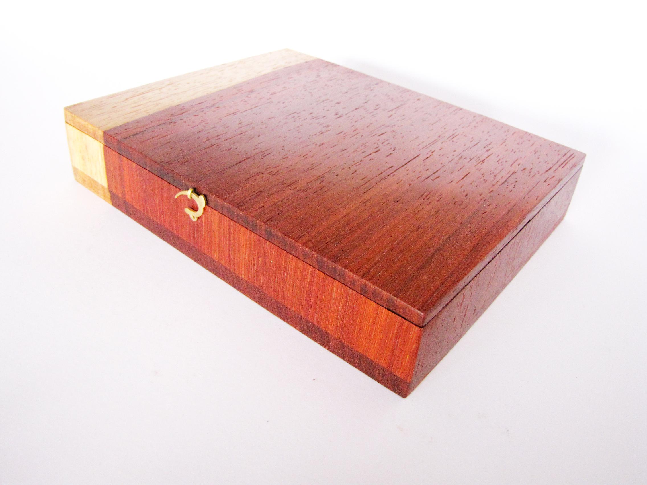 Padauk Wood Jewellery Box Contemporary Padauk Wood Jewellery Box