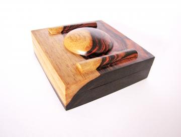 Cocobolo Wood Pill Box : $1040