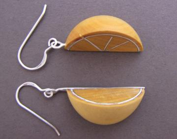 Lemon Wedge Earrings