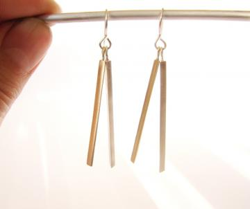 Earrings Gold & Silver : $181