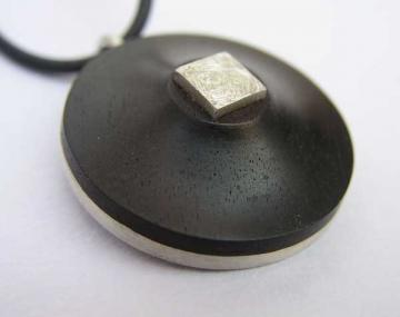 Pendant Ebony and Silver  HALF PRICE!