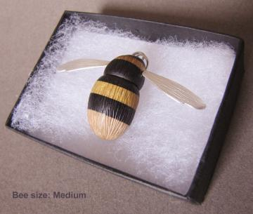 Bee Pendant Fabulous Furry Bumble Bee : $193