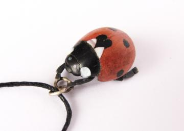 Ladybird Pendant with Mother of Pearl : $247