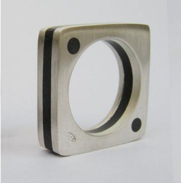 Ring Silver and Ebony : $81